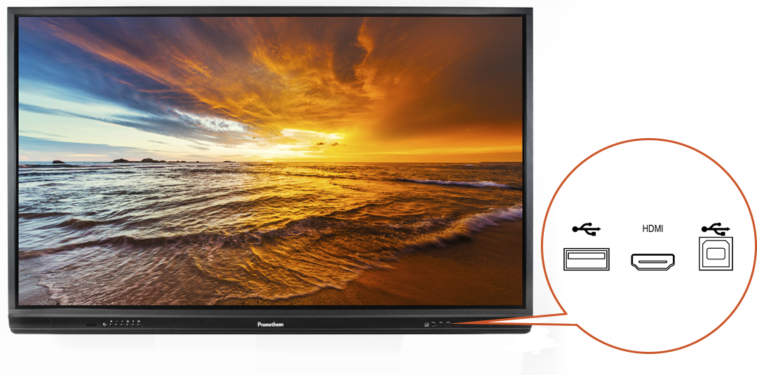 """ActivPanel 5 70"""" HD front view with detail"""
